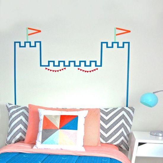 que faire avec du masking tape tête de lit enfant originale