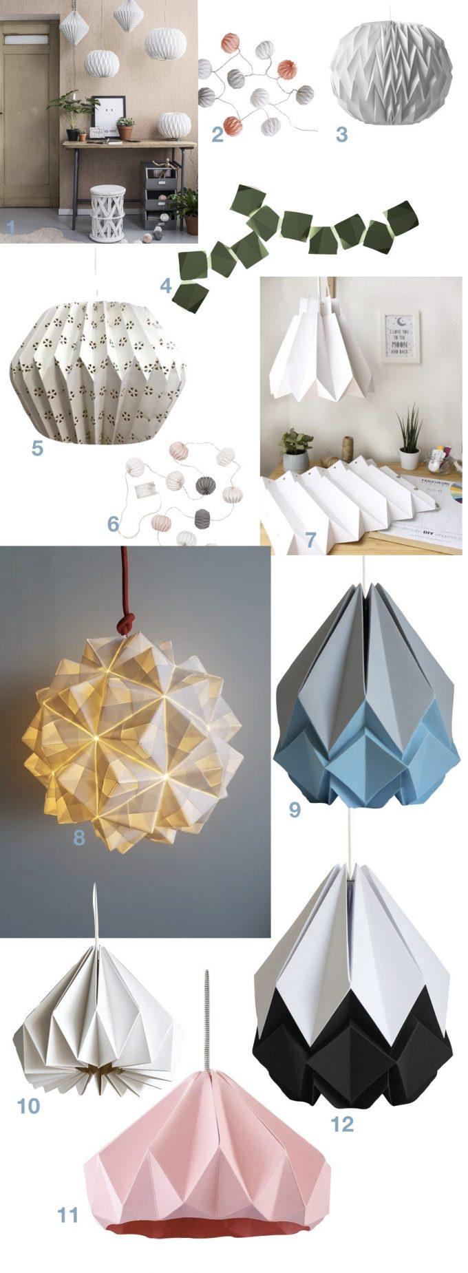 tuto lampe origami fait main diy blog deco clemaroundthecorner.001