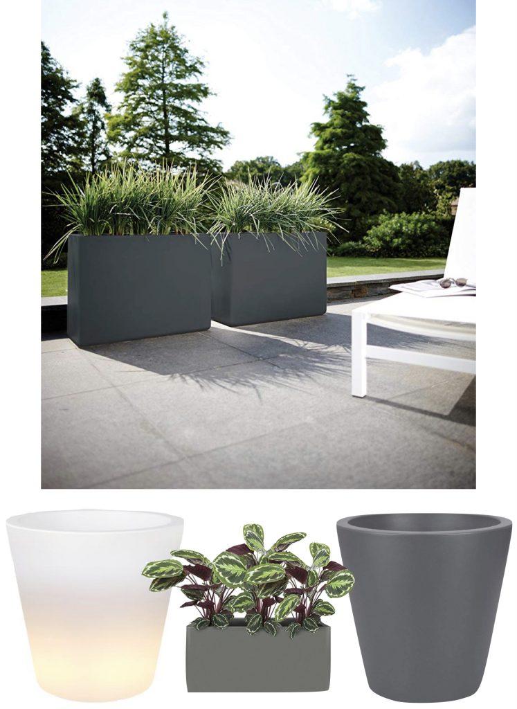 comment aménager terrasse moderne astuce conseil pot extérieur géant elho made in france blog déco clemaroundthecorner