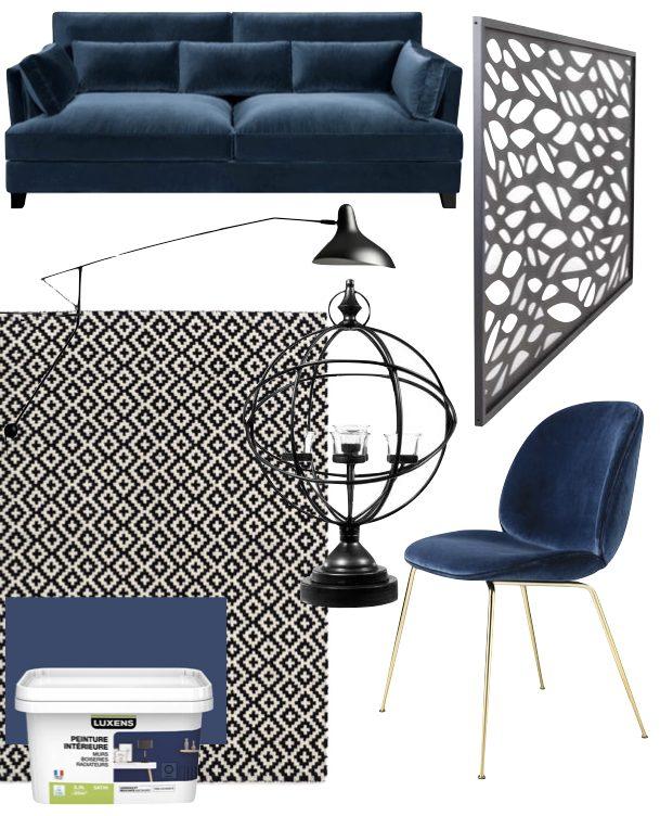 maison de 210m2 decoration interieur noir bleu canard blanc blog clemaroundthecorner
