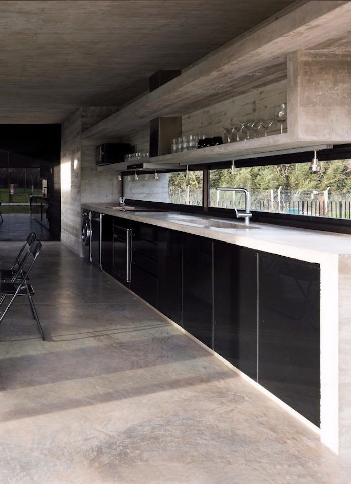 maison sans étage cuisine séjour salon