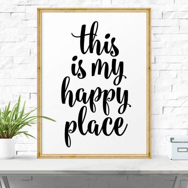 motivational quotes blog déco hygge cadre happy place