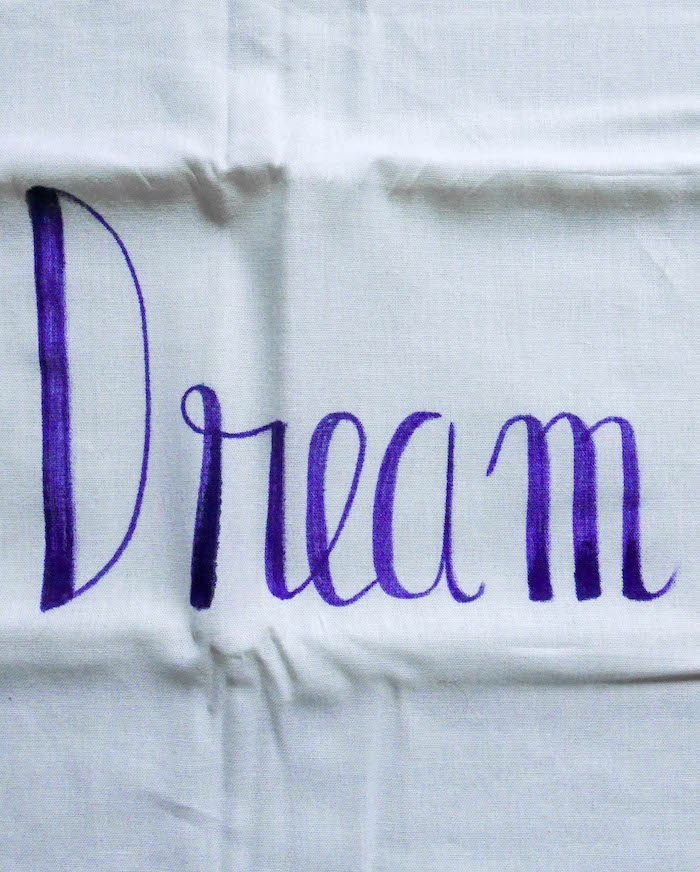 motivational quotes dream coussin housse taie oreiller diy violet phrase motivation