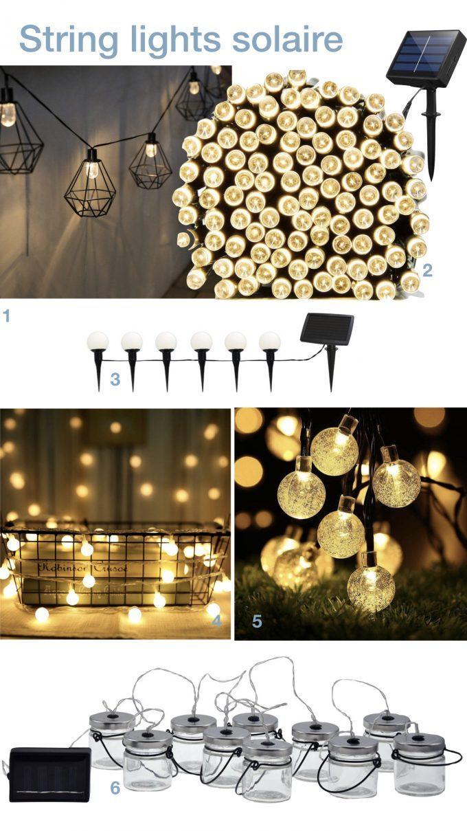 string light solaire lampe guirlande guinguette exterieur jardin pas cher