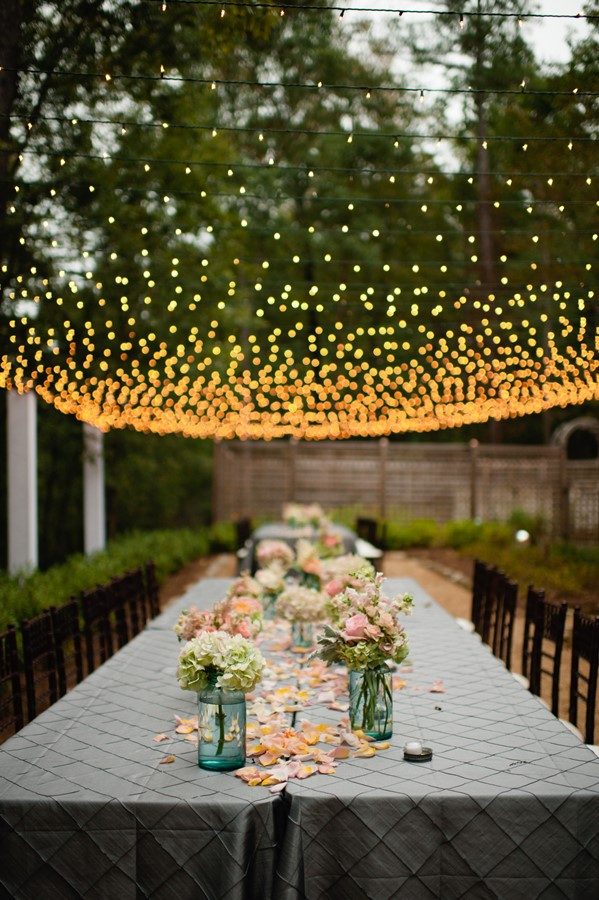 string light toit guirlande lumineuse mariage diner exterieur blog deco clemaroundthecorner
