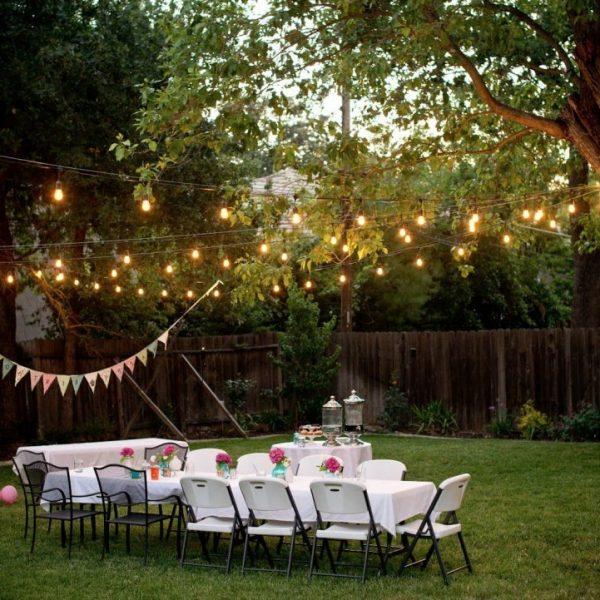string light pas cher avis décoration mariage champêtre diner extérieur blog déco clemaroundthecorner