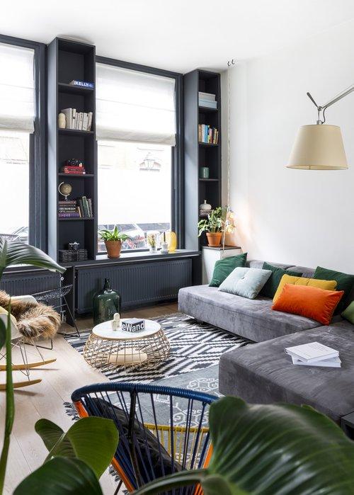 appartement bohème aux couleurs froides blog déco clemaroundthecorner