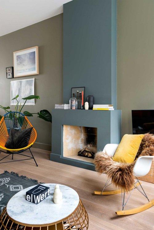 appartement bohème aux couleurs froides dsw fourrure blog déco clemaroundthecorner