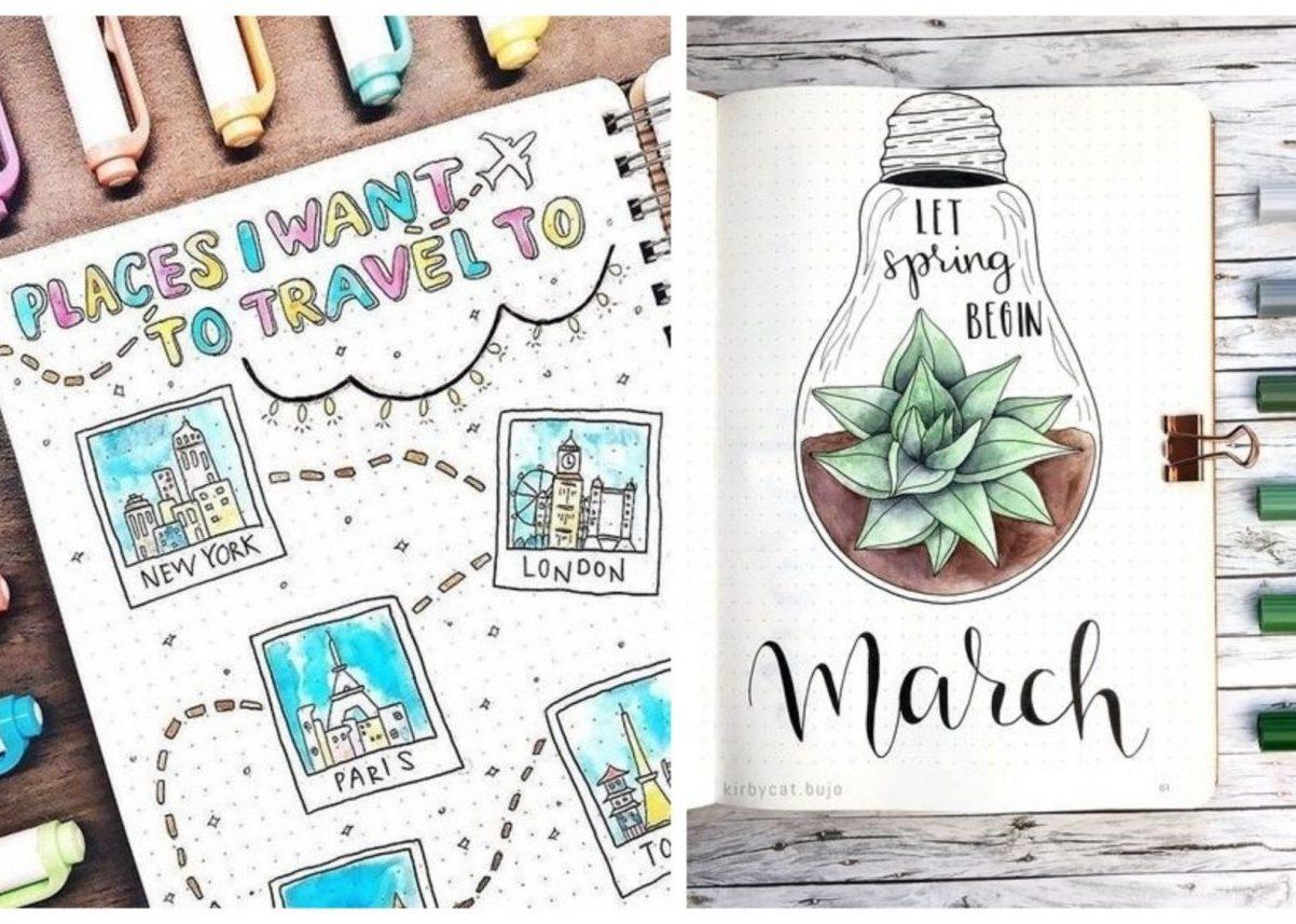 calligraphie bullet journal avis mois mars shopping blog déco clemaroundthecorner