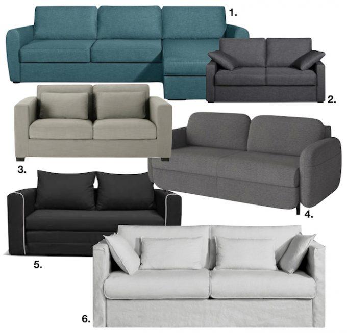 chambre dans salon canapé lit design beau pratique