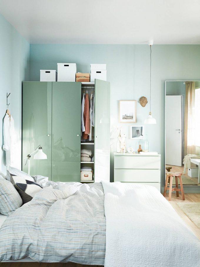 chambre nuance de vert eau mint pastel blog deco clemaroundthecorner
