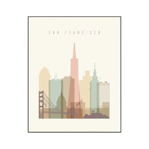 affiche scandinave san francisco blog decoration interieure design clemaroundthecorner