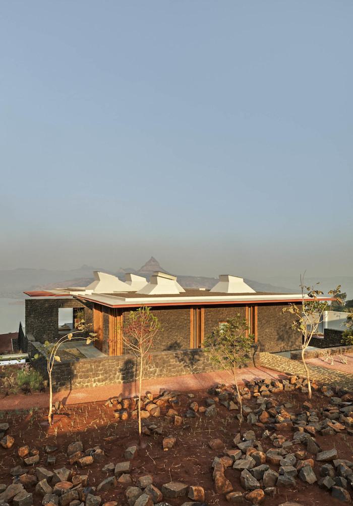 maison pierre villa béton et bois mumbai inde