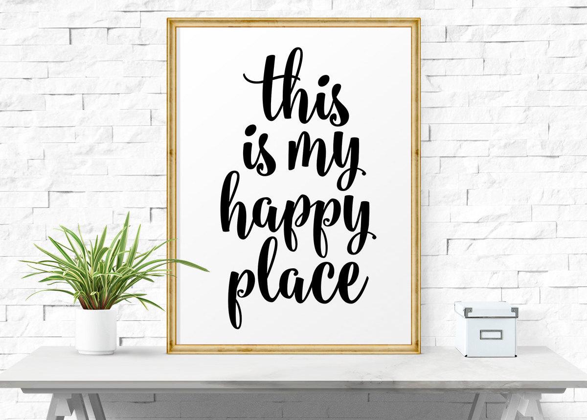 motivational quotes blog déco hygge cadre happy place