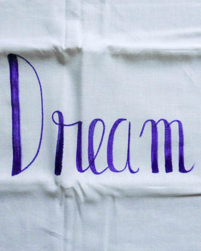 motivational quotes dream coussin housse taie oreiller diy violet phrase motivation