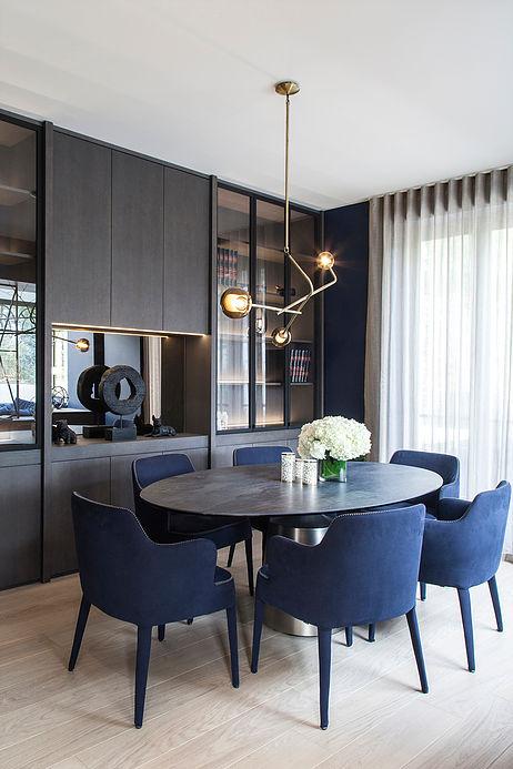 salon elegant bois chene bleu maison de 210m2 blog deco clemaroundthecorner