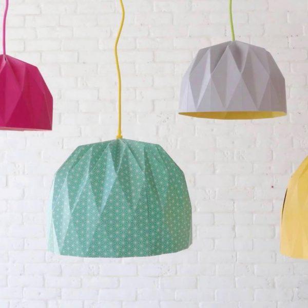 tuto lampe origami diy blog deco
