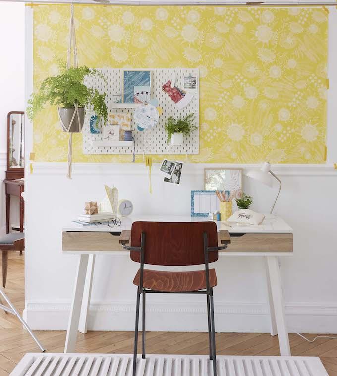truffaut x atelier mouti collection papier peint jaune - blog déco - clem around the corner