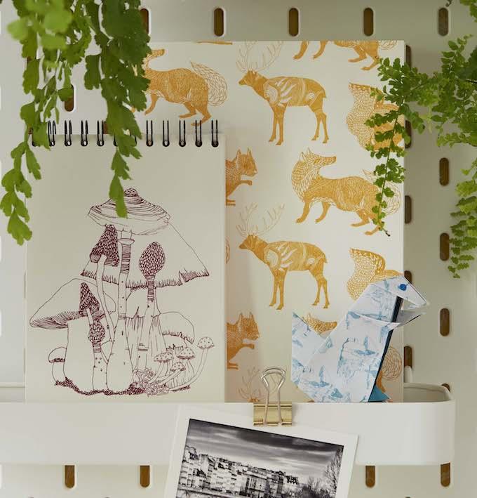 truffaut x atelier mouti collection coloriage papeterie foret - blog déco - clem around the corner