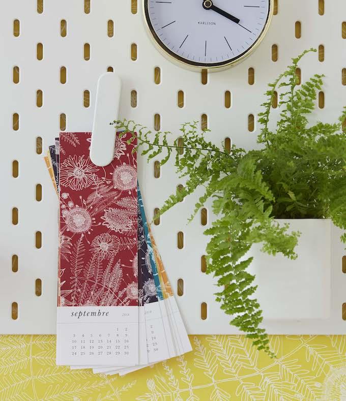 truffaut x atelier mouti calendrier mensuel - blog déco - clem around the corner
