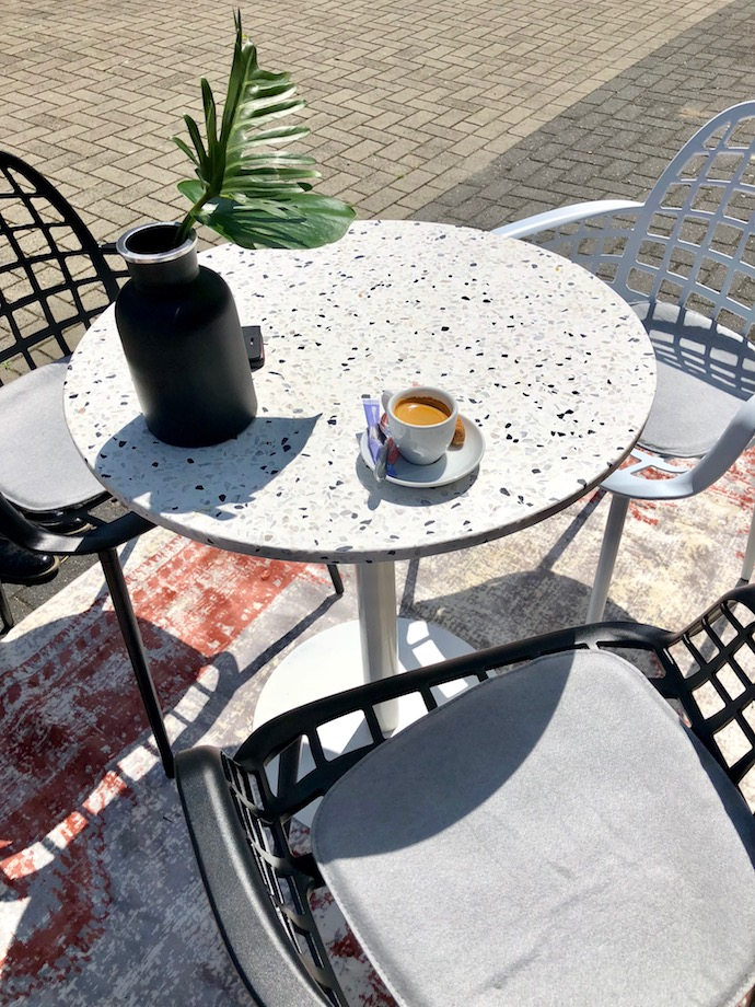 jardin table terrazzo de jar café extérieur