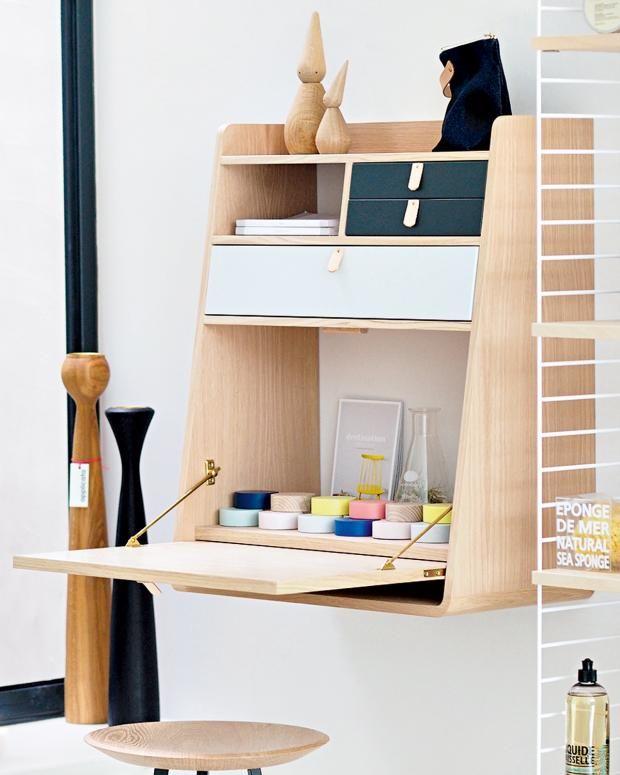 bureau pliable pour petit espace enfant secretaire scandinave blog deco clematc