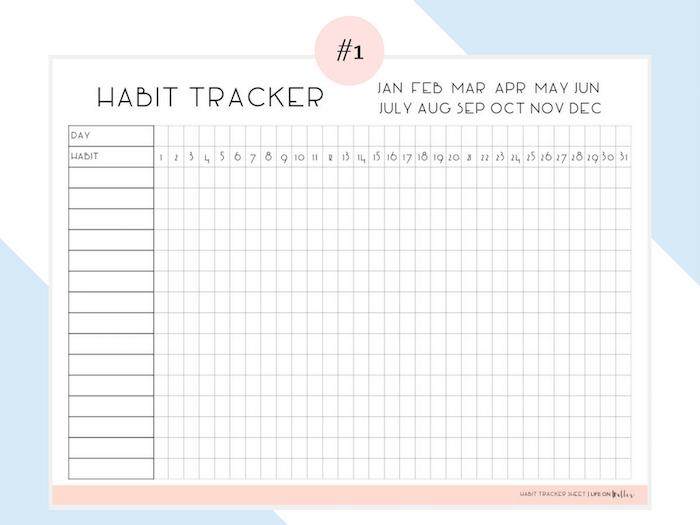 planner à imprimer tracking habitudes alimentaires sommeil résolutions blog déco