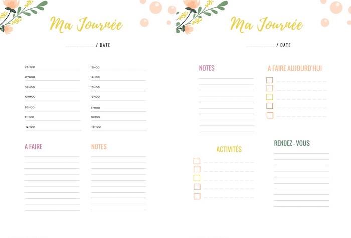 planner à imprimer daily planning blog déco quotidien agenda