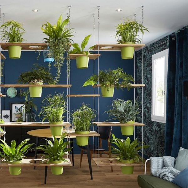 meuble végétal pot suspendu blog création déco clem around the corner
