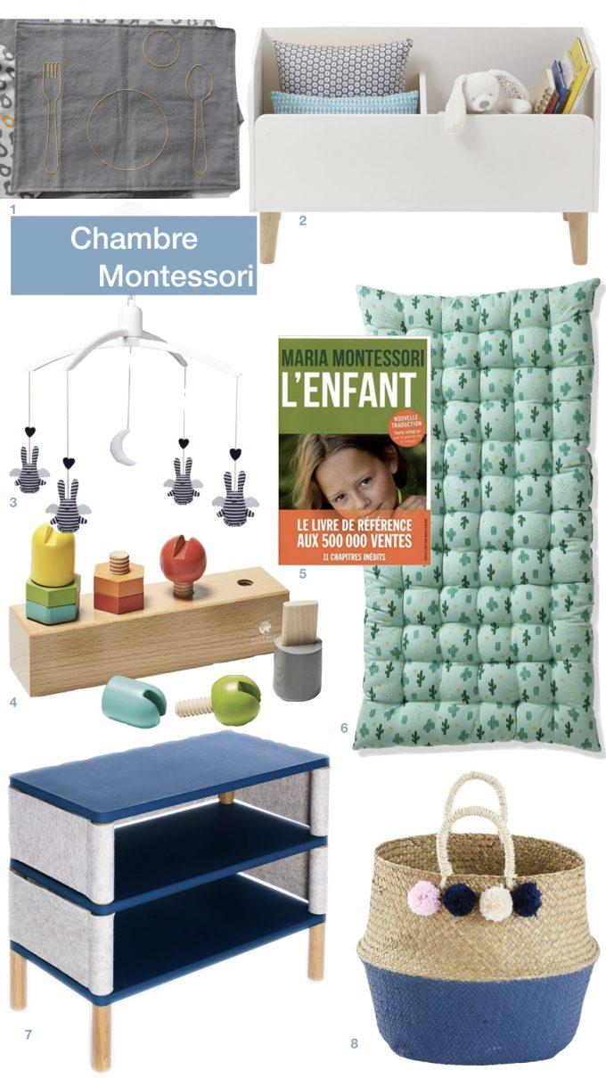 aménagement chambre Montessori bébé enfant matelas de sieste blog déco clem around the corner