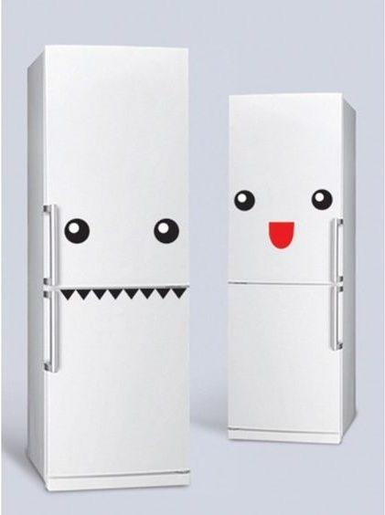 customiser son frigo blanc avec du masking tape smiley blog création déco clem around the corner