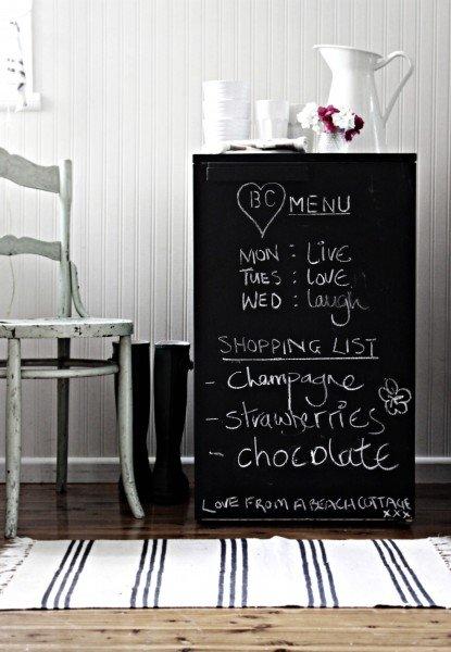customiser le frigo avec de la peinture ardoise tableau noir blog création déco clem around the corner