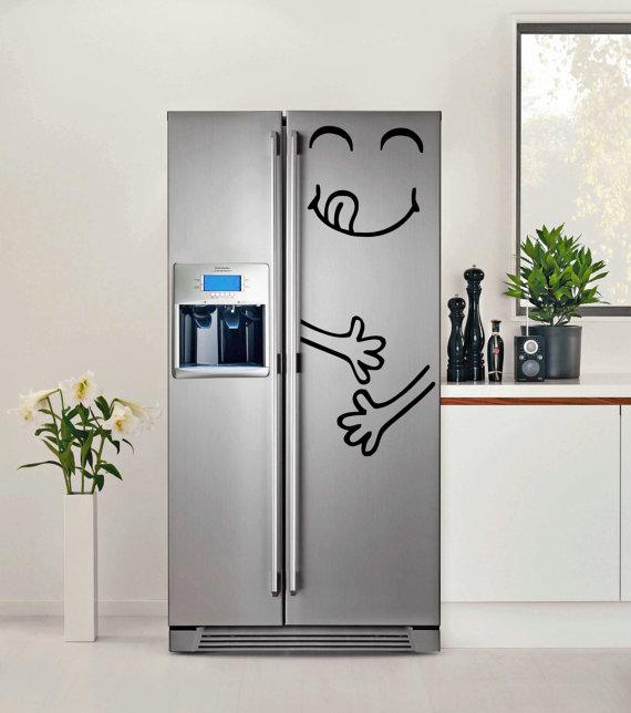 customiser le frigo avec de la peinture smiley tuto blog création déco clematc clemaroundthecorner