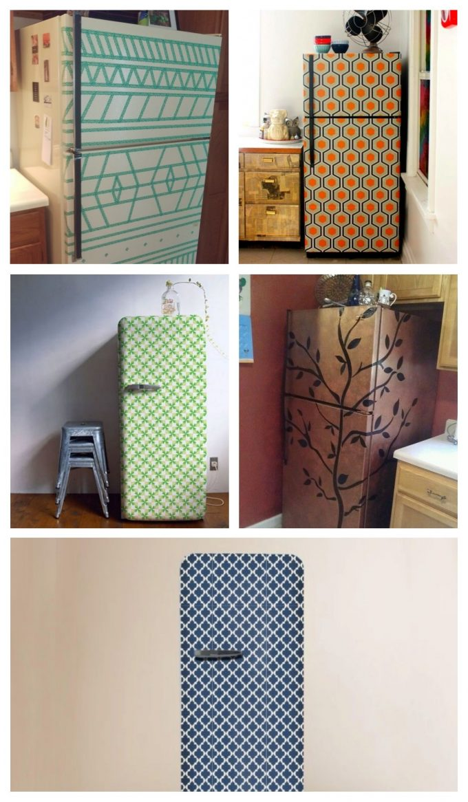 customiser le frigo avec du masking tape effet vintage 70s blog déco clemaroundthecorner