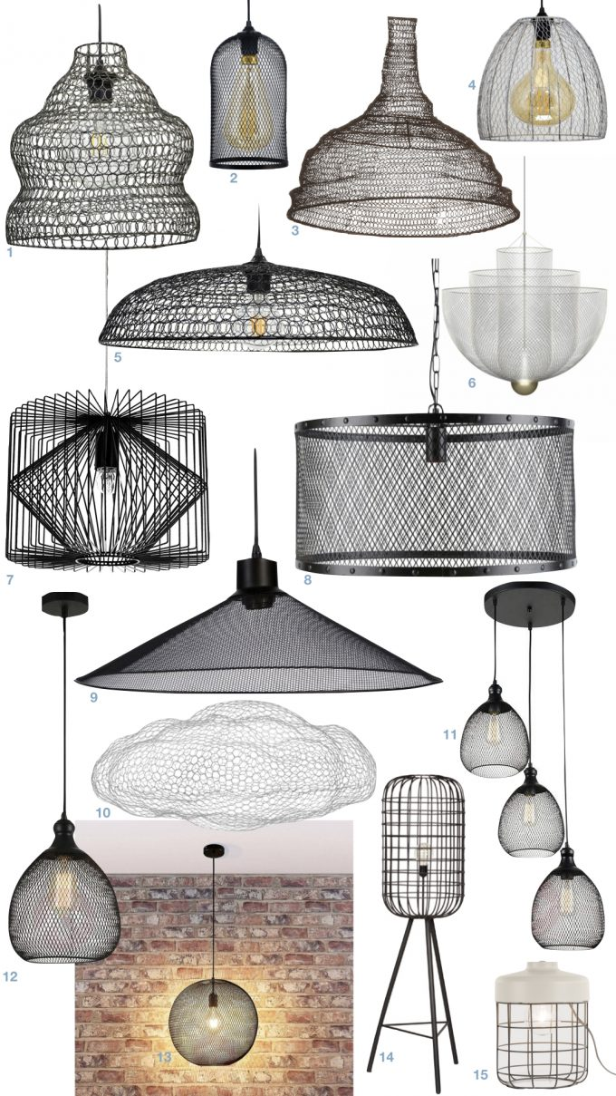 déco motif grille quadrillée lampe suspension grillage blog design clemaroundthecorner