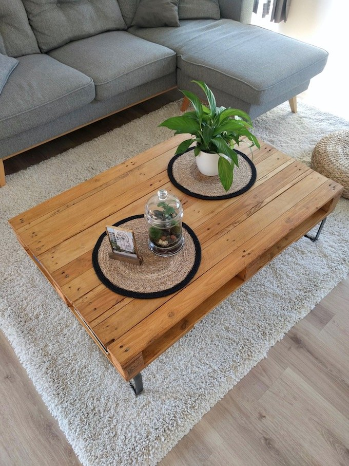 comment fabriquer table basse palette diy blog déco clem around the corner