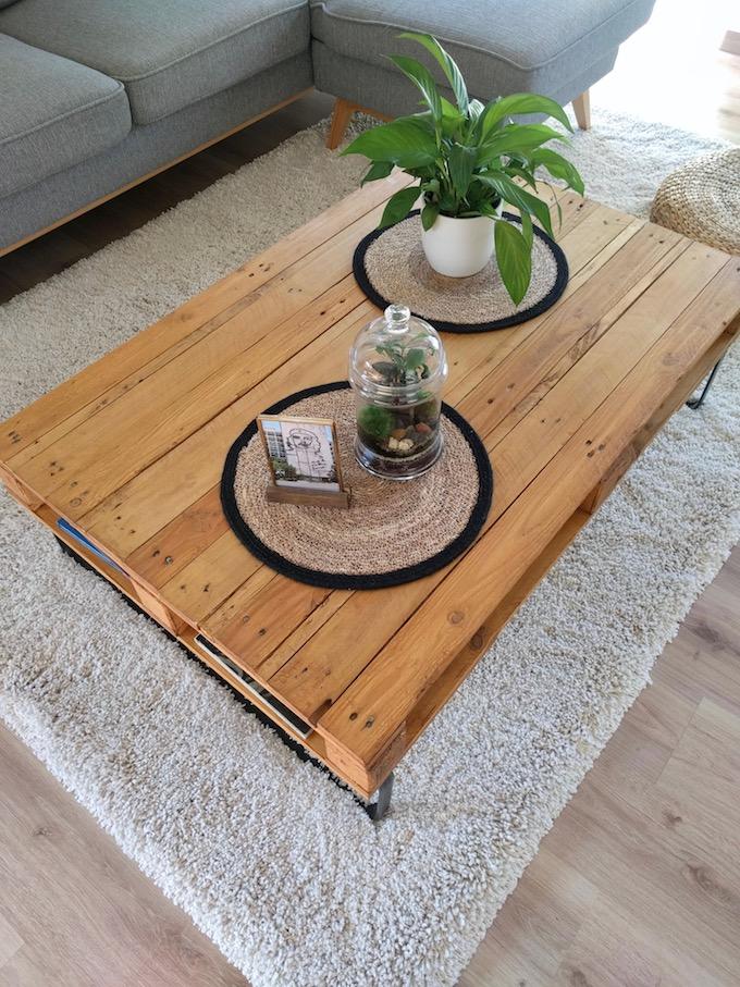 comment fabriquer table basse palette do it yourself blog déco clem around the corner