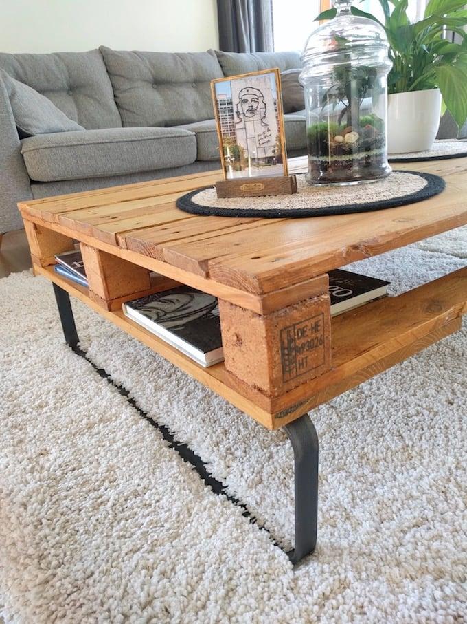 comment fabriquer table basse palette epad diy blog déco clemaroundthecorner