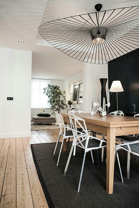 salle a manger bois noir blanche scandinave blog décoration interieur clemaroundthecorner