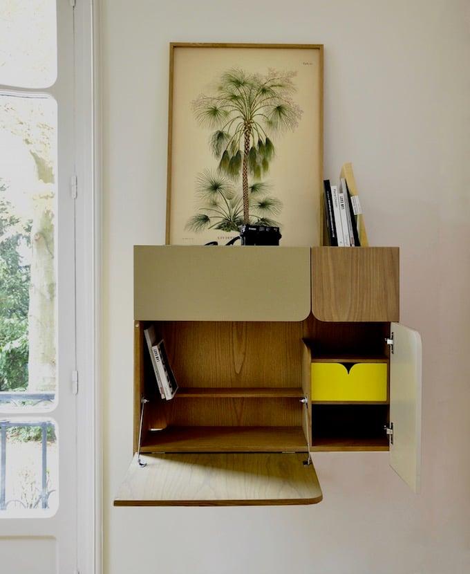 bureau pliable pour petit espace 10 meubles design. Black Bedroom Furniture Sets. Home Design Ideas