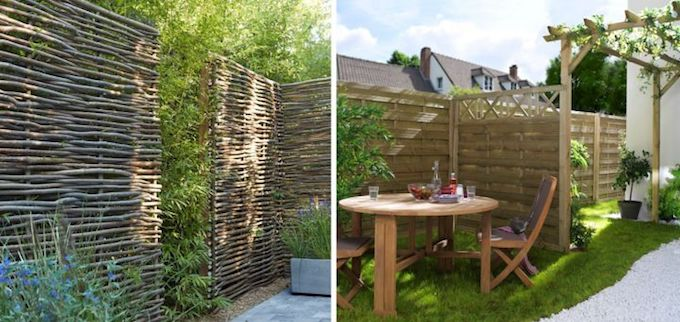 clôturer son jardin mur brique bois salon blog déco clemaroundthecorner