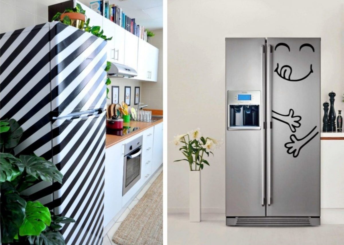 Comment Faire Des Rayures En Peinture Sur Un Mur customiser le frigo : 20 idées faciles à réaliser - clem