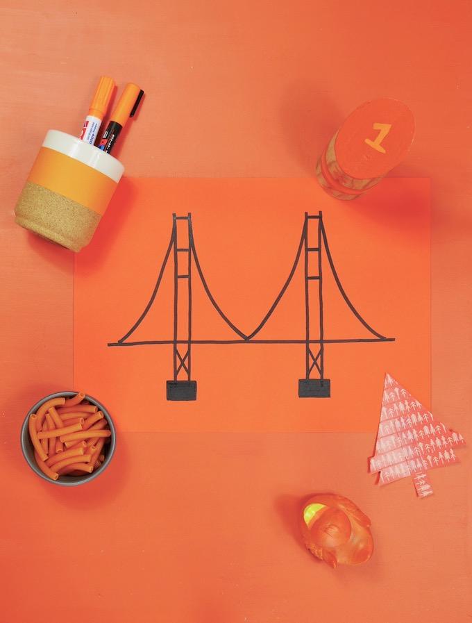 cv coloré idée souvenirs de voyage orange dessin ggb - Blog déco - Clem around the corner