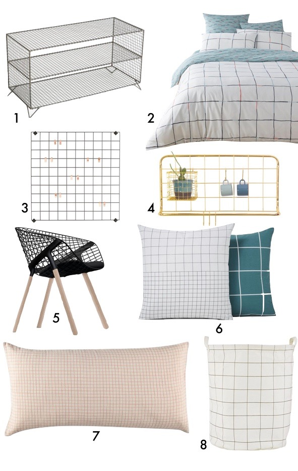 deco motif grille carreau minimaliste scandinave blog decoration interieure clem around the corner