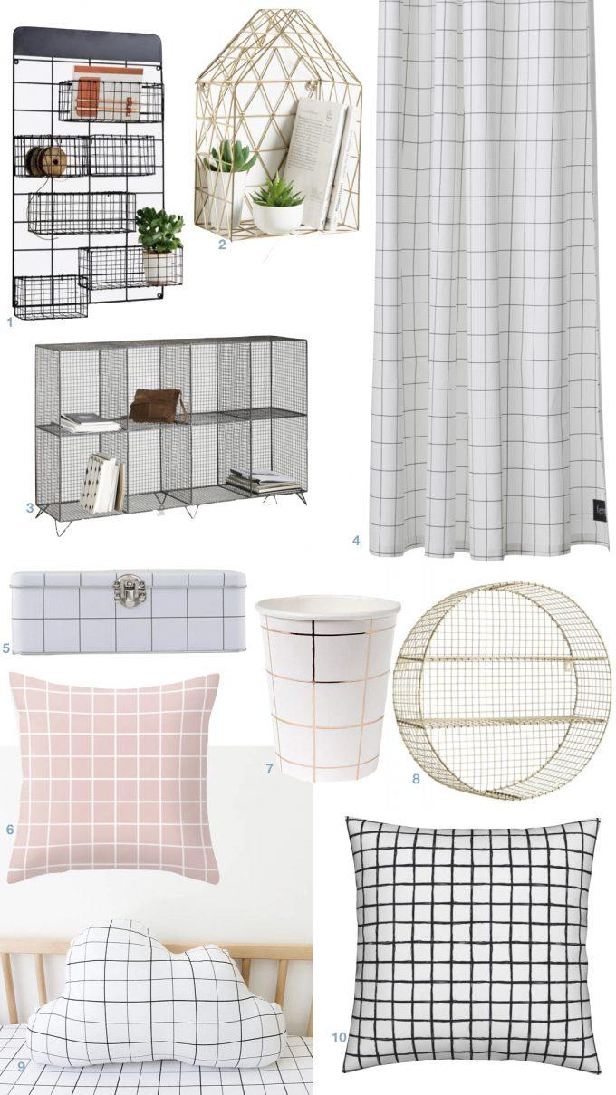 deco motif grille quadrille grillage blog design clem around the corner