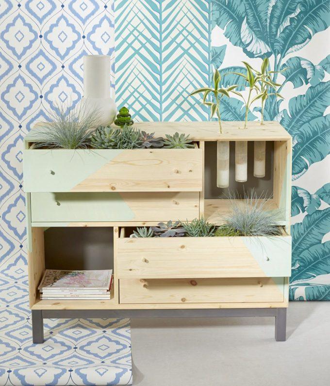 meuble végétal diy commode vert mint blog déco clem around the corner