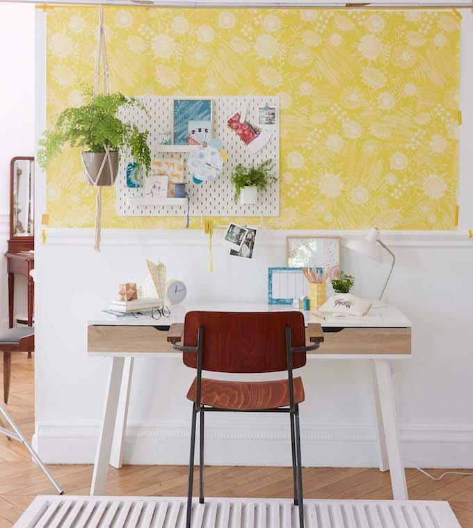 truffaut x atelier mouti collection papier peint jaune - blog déco - clem around the corner