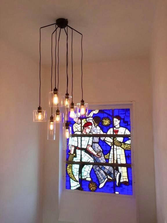 villa avec rooftop à Biarritz vitrail vitraux pelote basque blog déco clemaroundthecorner