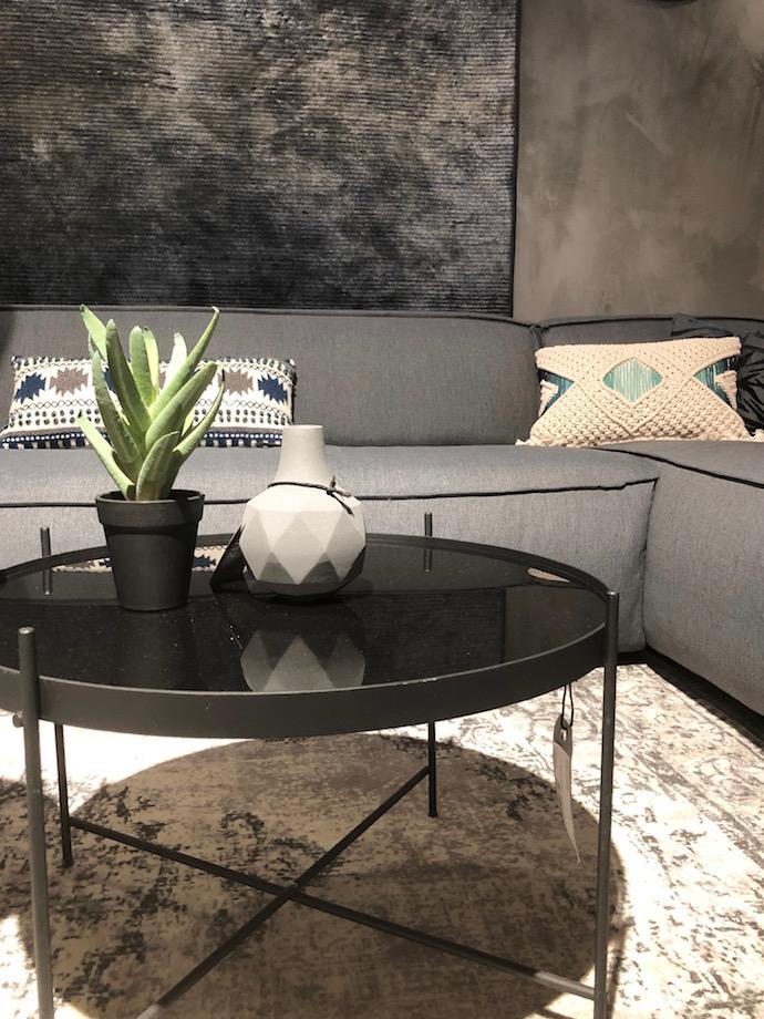 zuiver design hollandais meubles salon cactus table basse ronde métal verre noire - Blog déco - Clem Around The Corner