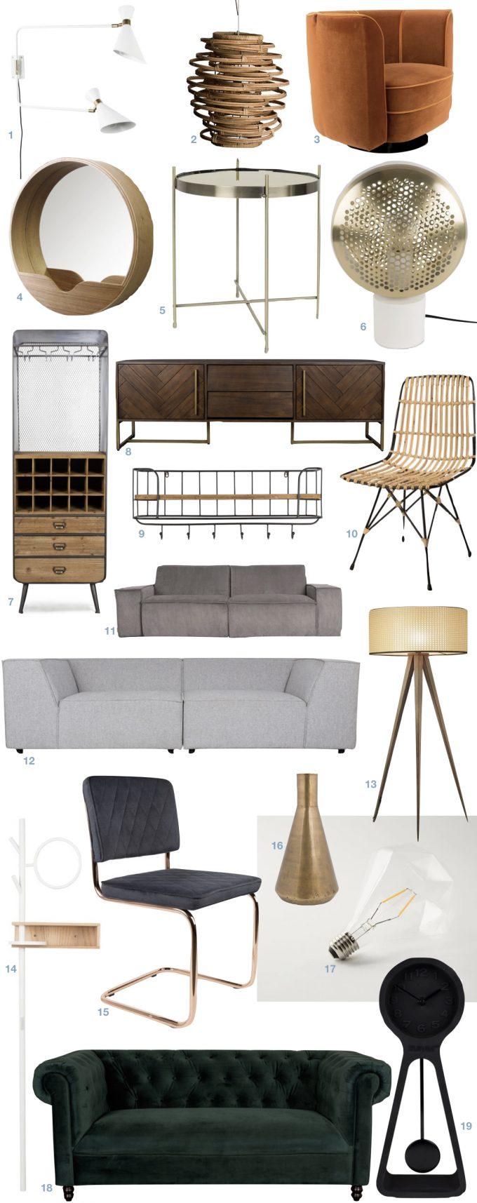 zuiver meubles hollandais design bon rapport qualité prix - blog deco - Clem Around The Corner
